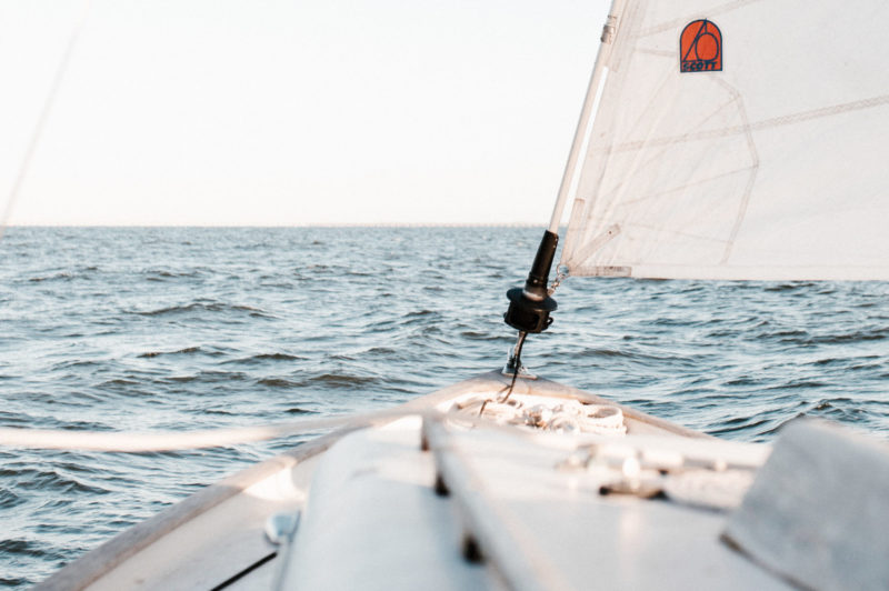 boat sailing ocean conservation research