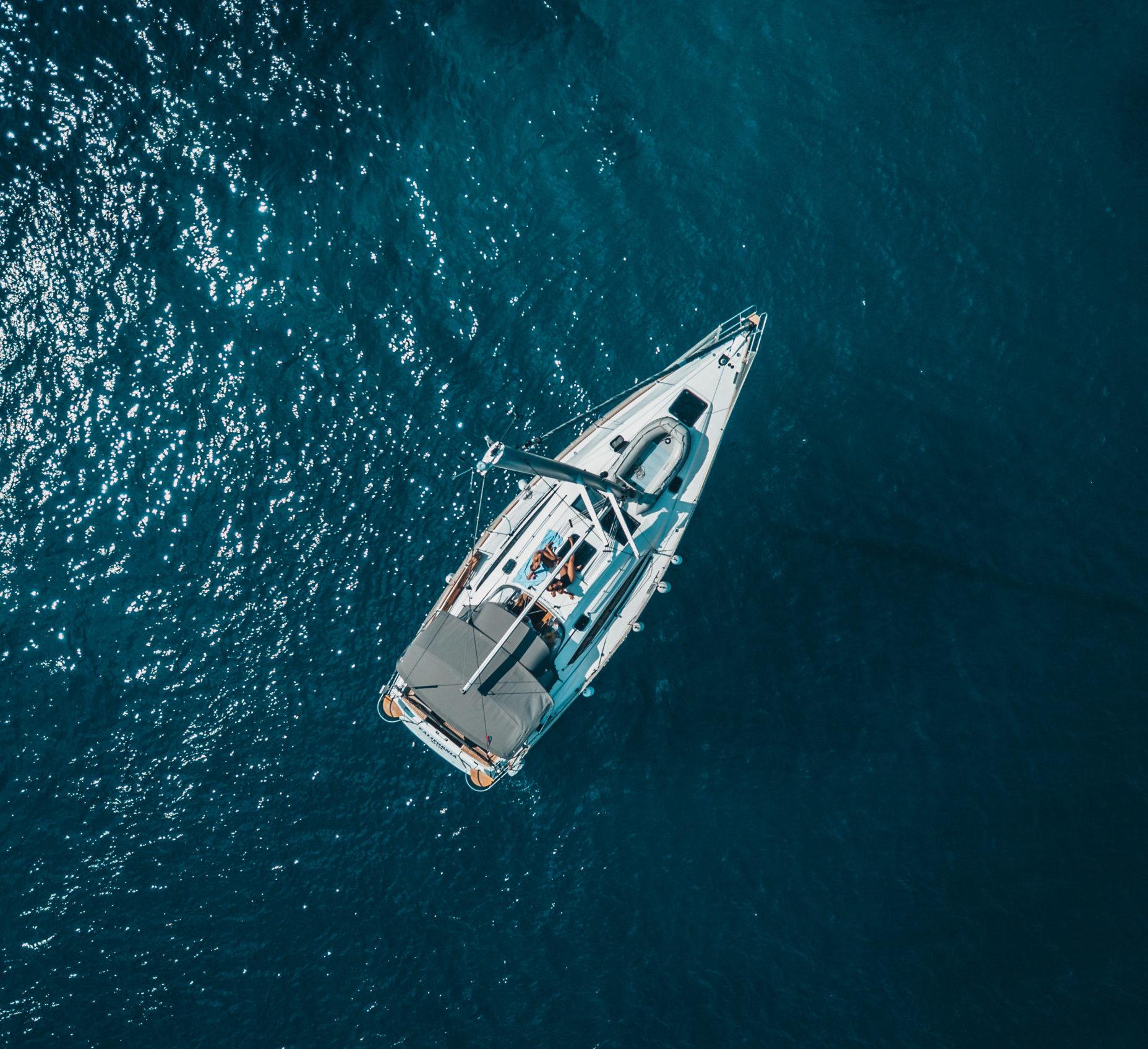 aerial view patrol boat