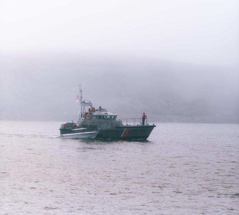cruising patrol boat