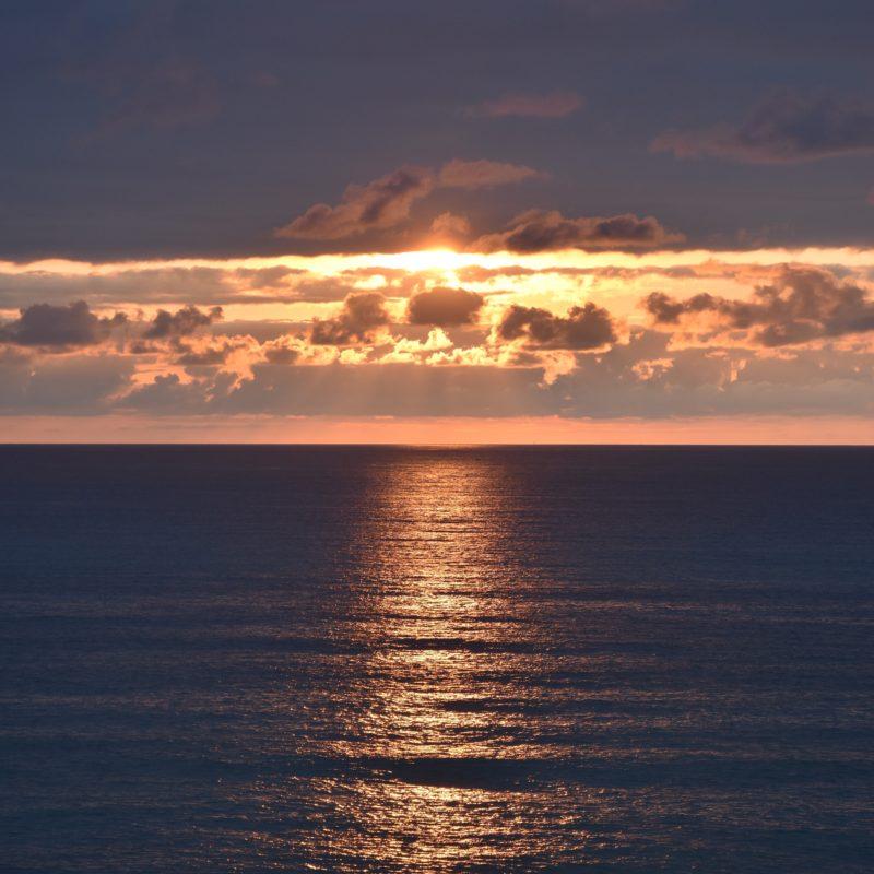 Sun setting over the Atlantic