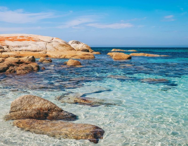 beach front ocean tasmania