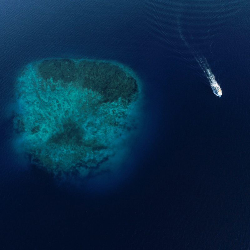 aerial view yacht conservation