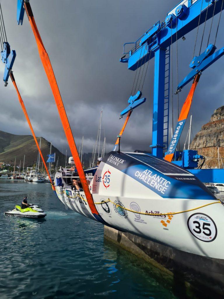 talisker whisky atlantic challenge latitude 35 boat launch