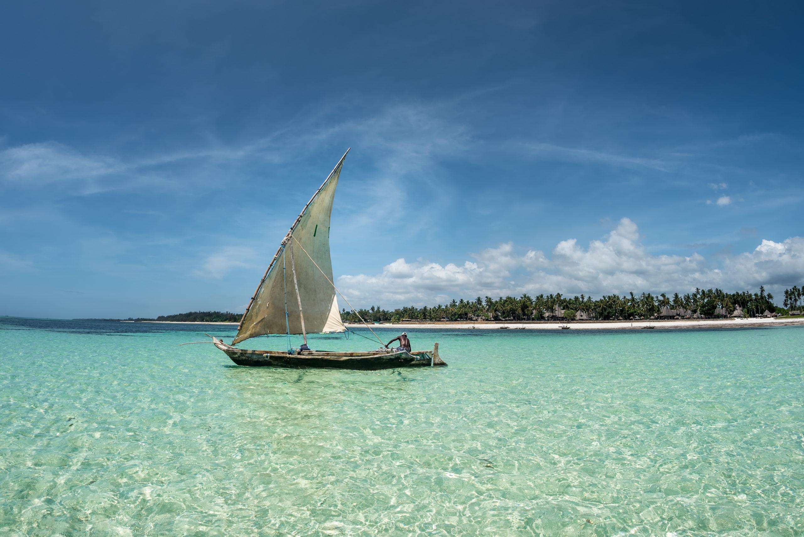 Zanzibar seascape Africa Diani Kenya beach