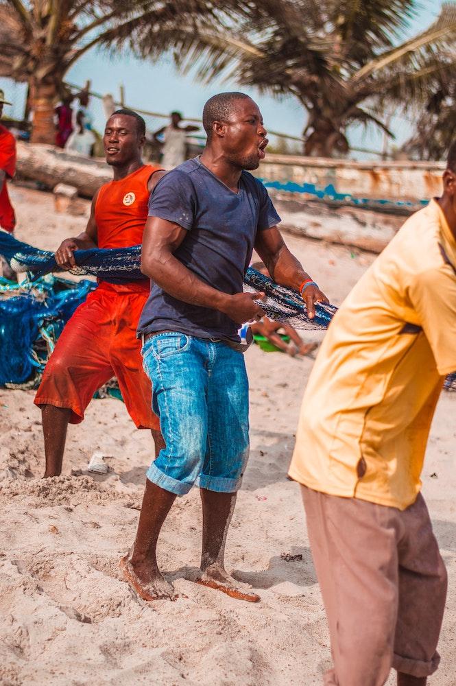 community haul fishermen net ghana krokobite