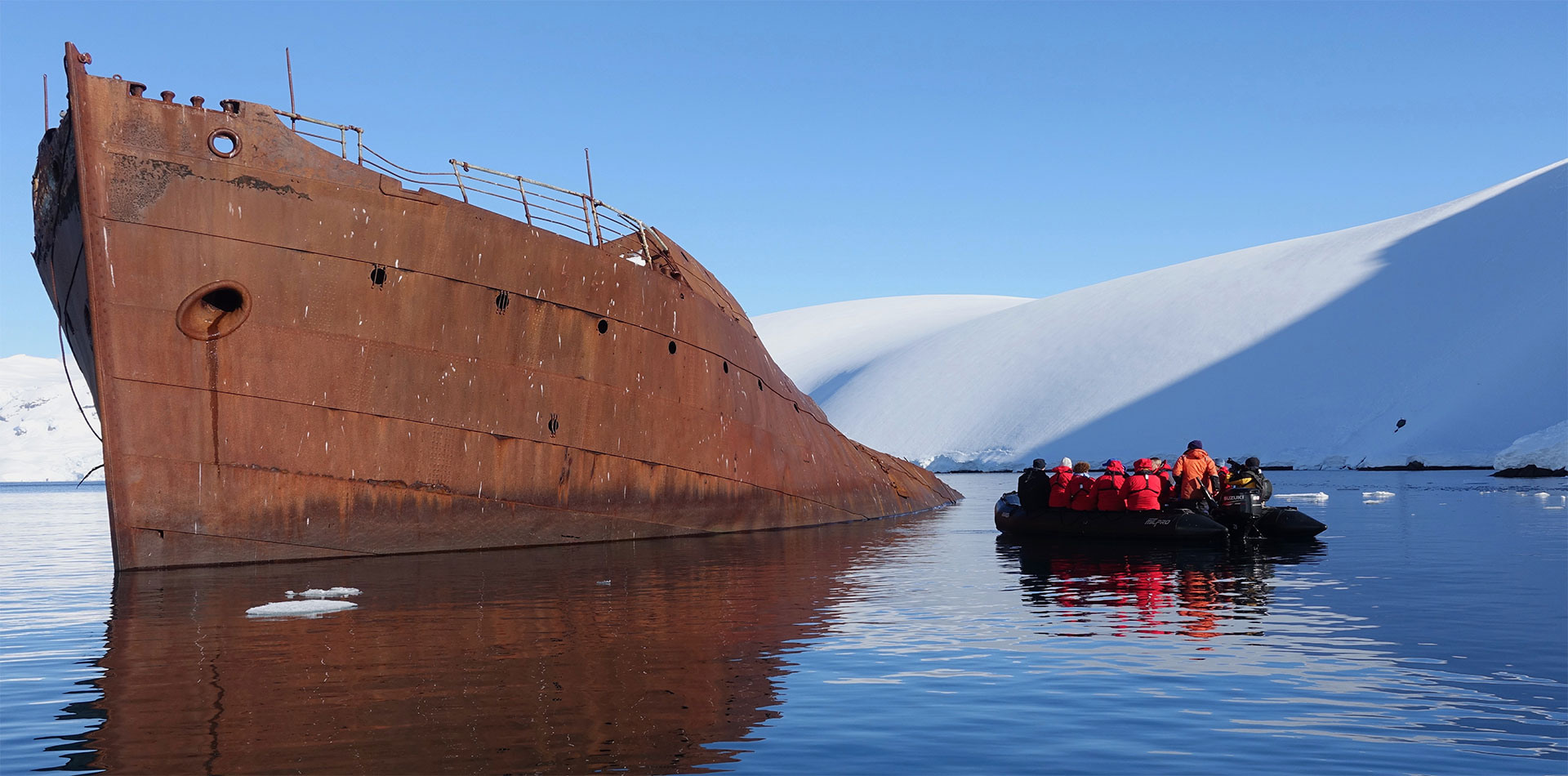 antarctica peninsula whale processing burnt ship