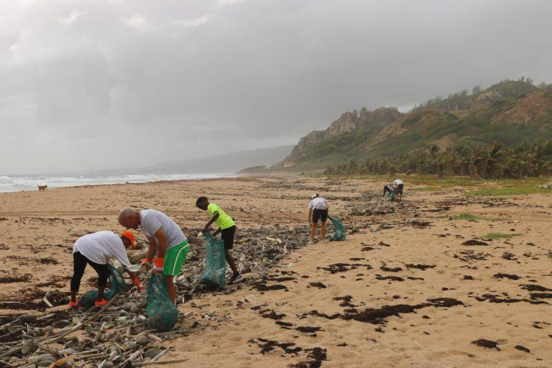 barbados up beach clean carribean