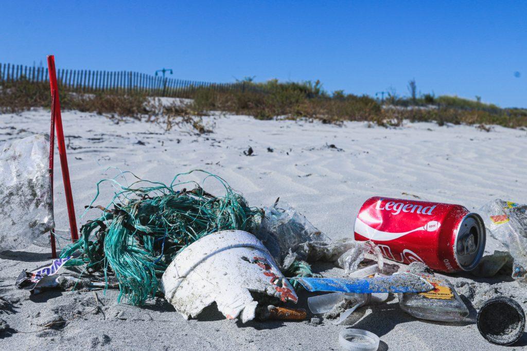 states rubbish nahant beach united sand massachusettes netting