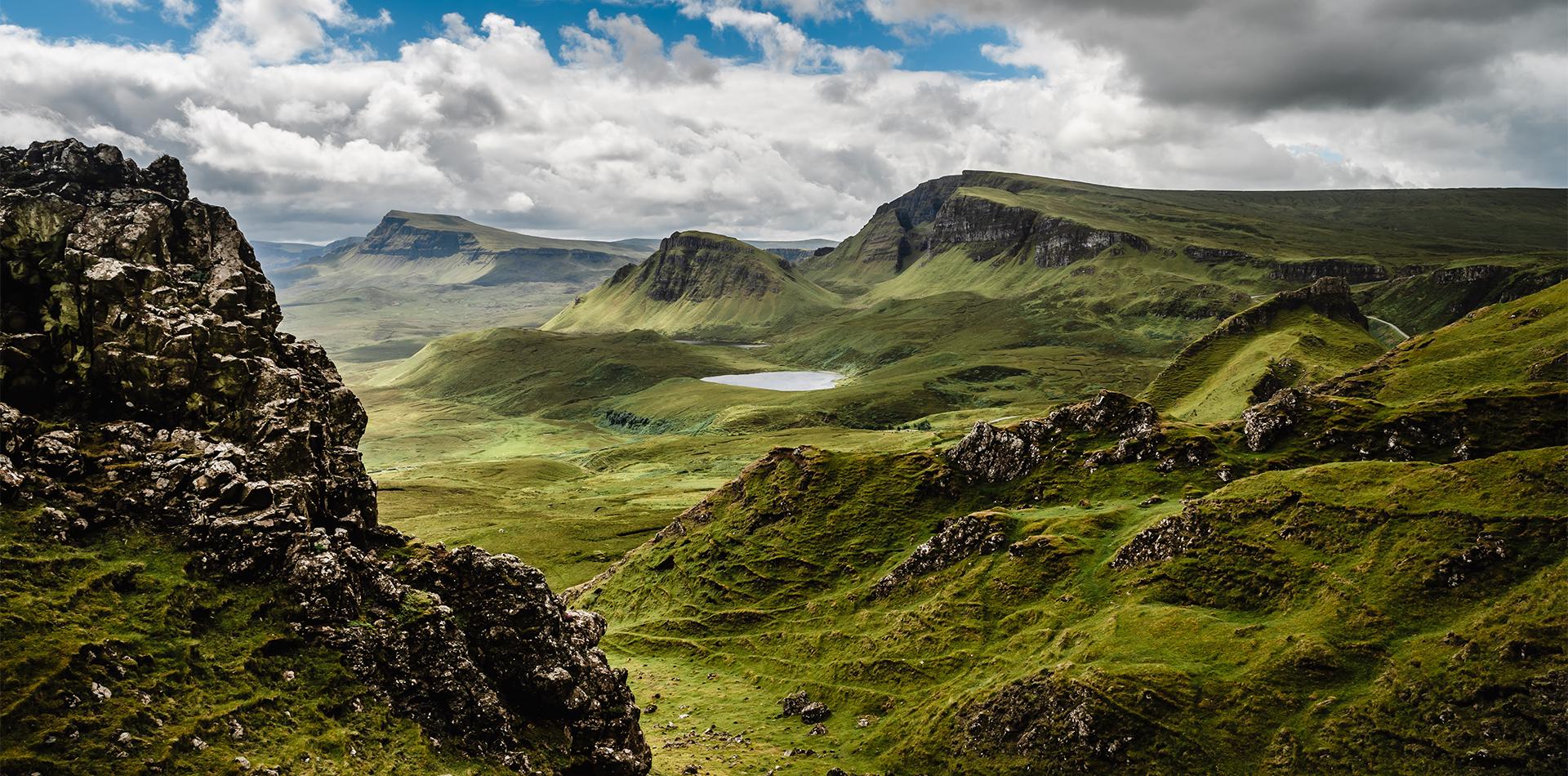 rugged hills skye scotland