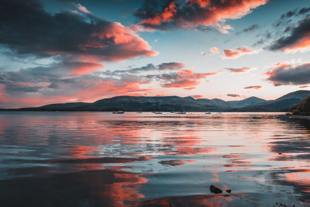 scotland loch highland west way sunset