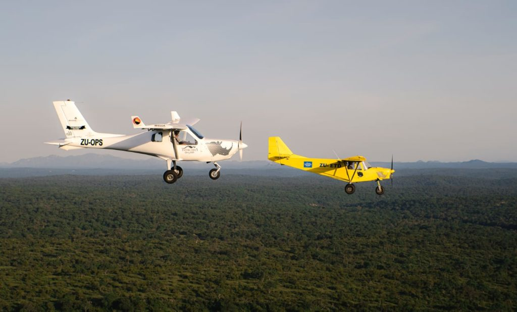 flying planes transfrontier air support